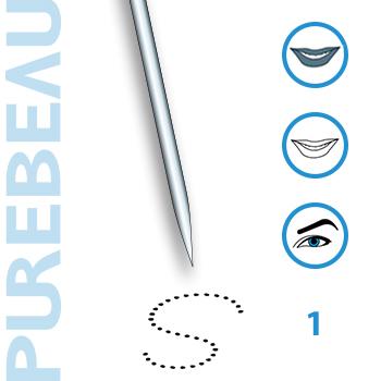Игла 1-зубцовая с защитным резиновым колпачком