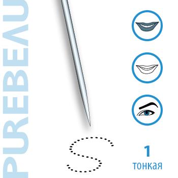 Игла 1-зубцовая тонкая с защитным резиновым колпачком